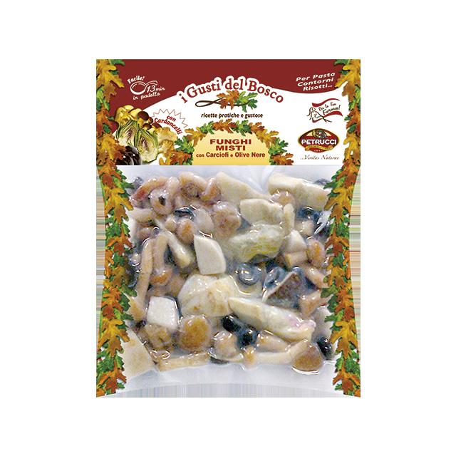 Funghi Misti con Cardoncelli, Carciofi e Olive nere