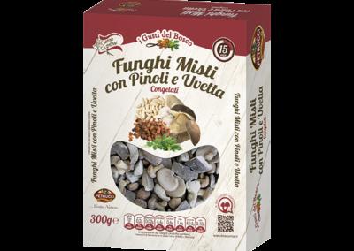 Funghi Misti con Pinoli e Uvetta