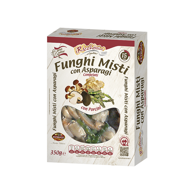 Funghi Misti con Porcini e Asparagi