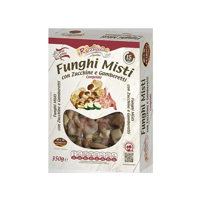 Funghi Misti con Zucchine e Gamberetti