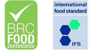 Certificazioni BRC e IFS con il massimo grado