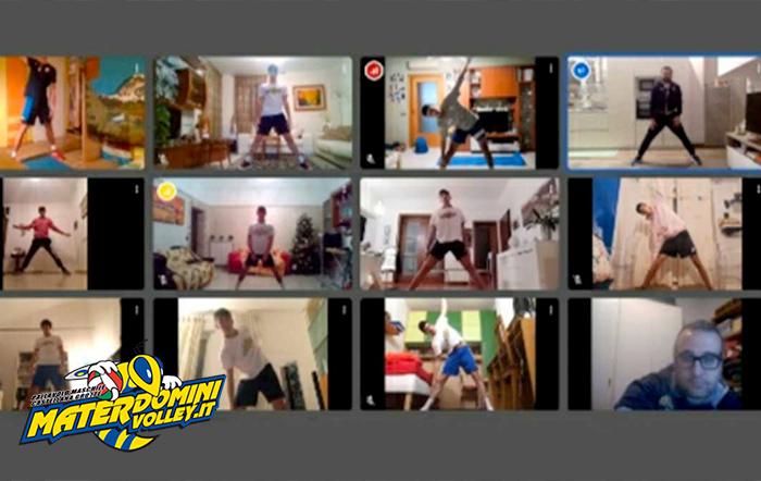 La Materdomini Volley riprende la preparazione atletica online!