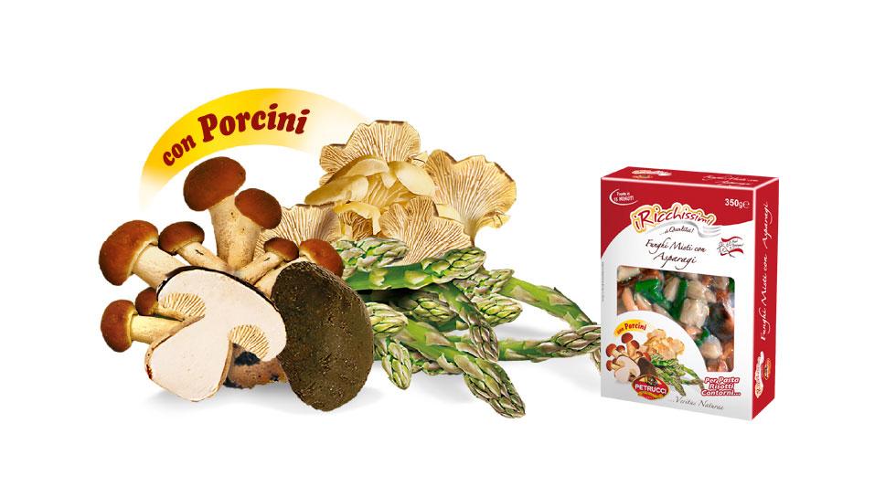 Funghi Misti con Asparagi   I Ricchissimi   Petrucci